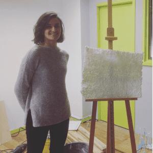 Tiwánee in haar studio foto