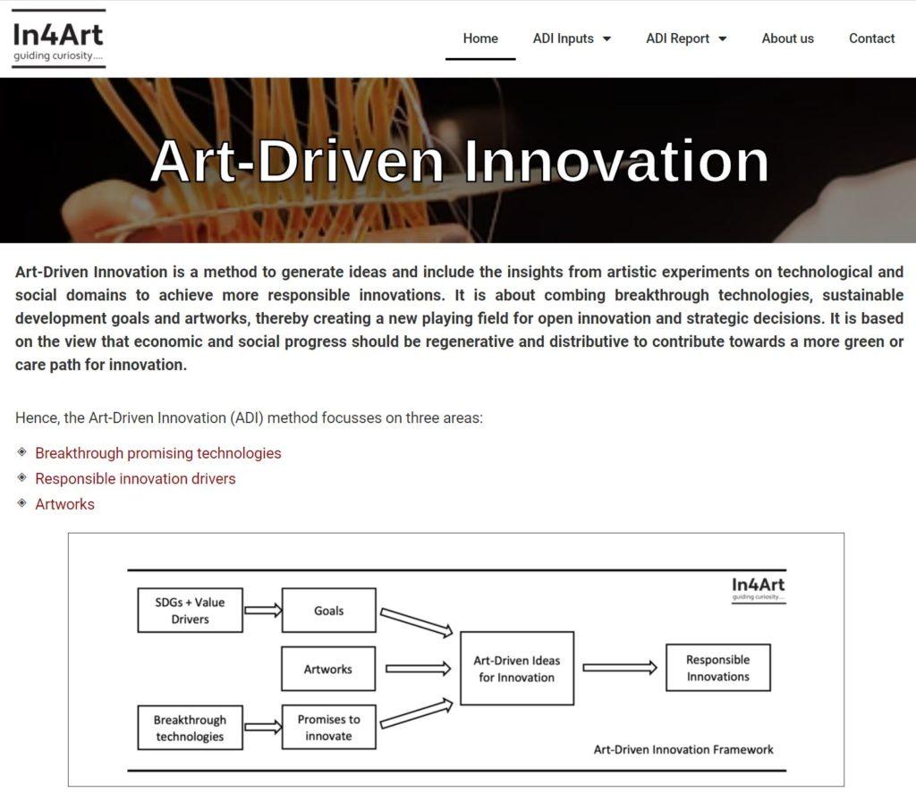 Art-Driven Innovation.eu website